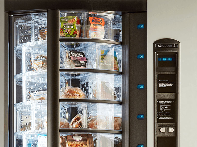 You can buy vending machines from us that offer freshly prepared food.