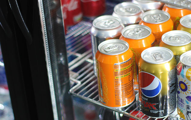Enjoy healthier products in your cold drinks vending machine.