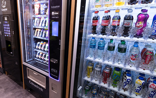 Add cold drinks to your snack machine.