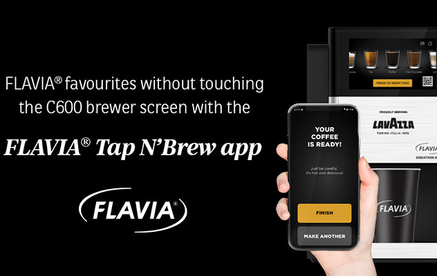 The Flavia Creation 600 office coffee machine delivers a truly contactless experience.