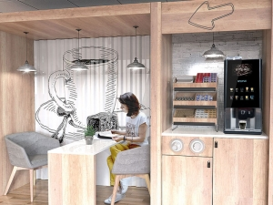 A coffee machine within a break out area could be a great implementation.