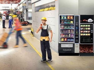A cold drink vending machine can work anywhere.