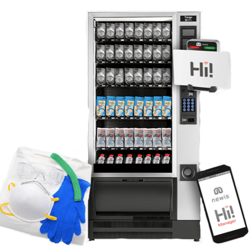 A PPE vending machine from Coinadrink Limited is a safe and reliable way to store and provide PPE items.