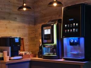 A vending machine or a coffee machine is fast becoming a valuable employee perk.