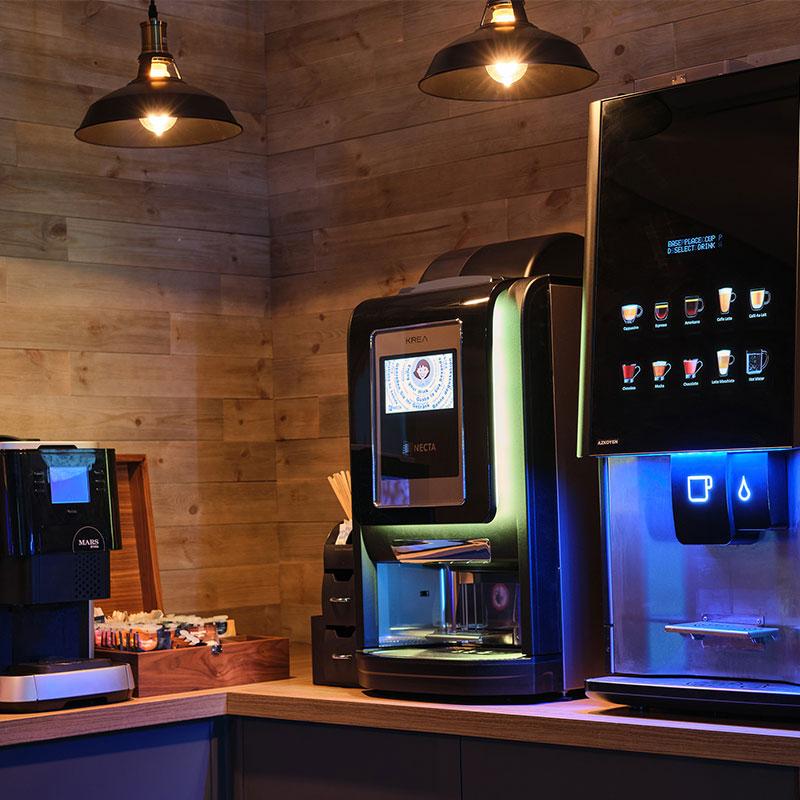 A tabletop coffee machine is a fantastic employee perk.