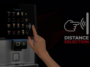 Bring peace of mind into your workplace with a contactless coffee machine or contactless water dispenser.