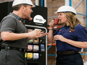 The Klix Momentum hot drinks vending machine is a great choice for the factory floor.