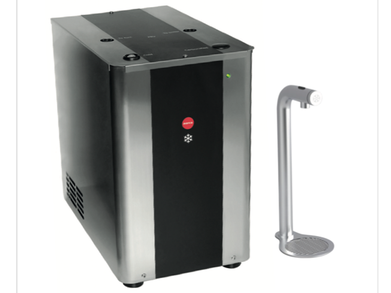 The hands-free FRIIA tap features a huge undercounter chiller.