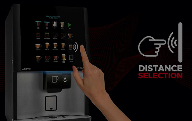 This fresh milk coffee machine comes equipped with contactless technology.