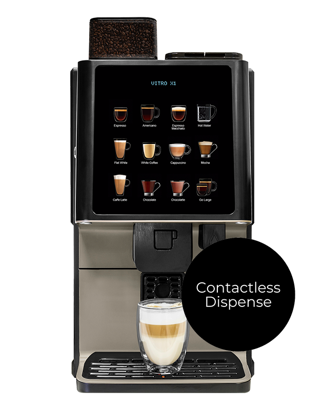 The Vitro X1 MIA contactless coffee machine.