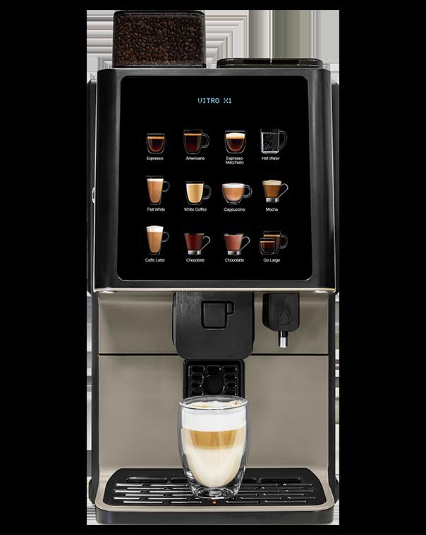 Vitro X1 MIA fresh milk coffee machine from Coinadrink Limited.