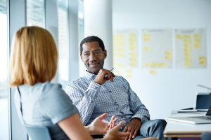 Make sure your working environment provides a place to talk.
