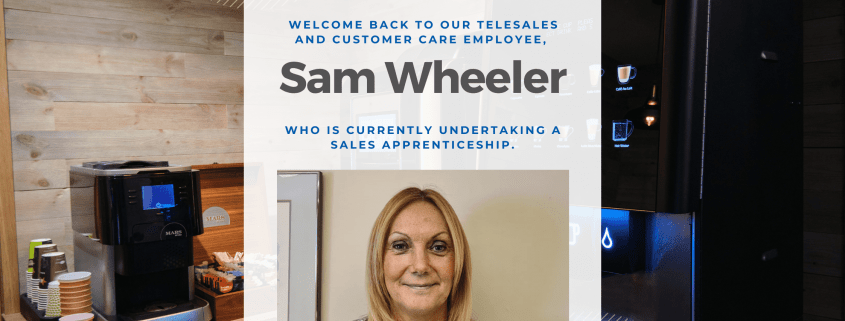 Now a few months into her course, our Sales apprentice Sam Wheeler speaks to us to provide a further update.