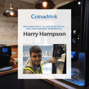 Meet our Electrical and Electronics Engineering apprentice for a second time, Harry Hampson!