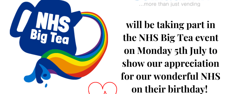 Coinadrink Limited will be taking part in the NHS Big Tea event on Monday 5th July to show our appreciation for our wonderful NHS on their birthday!