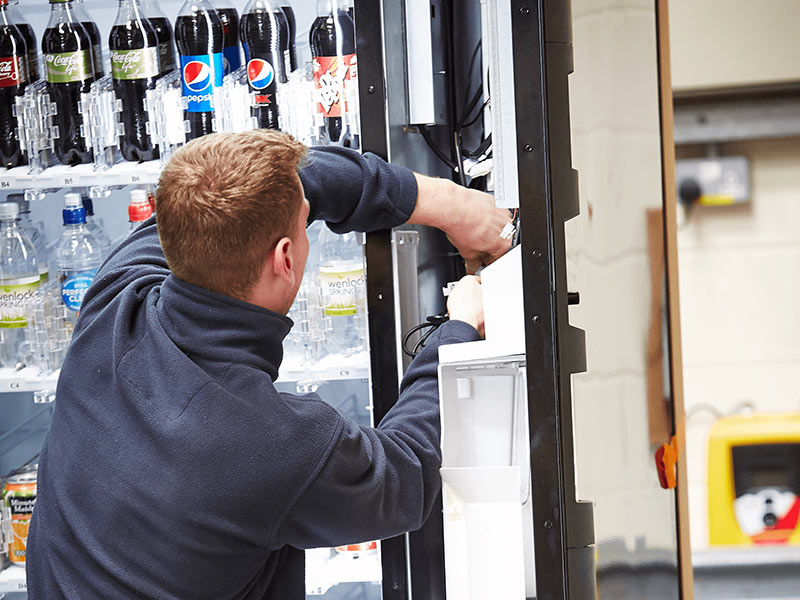 Our engineers help provide a great service with the latest service response time in the vending industry at under 2 hours.
