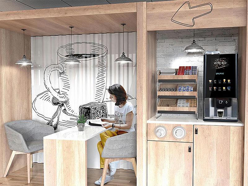 Corporate perks coffee machines.