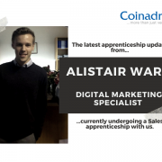 The latest update from Alistair Ward, who is undergoing a sales apprenticeship course with us.