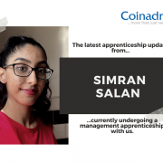 The latest update from Simran Salan, who is undergoing a management apprenticeship course with us.