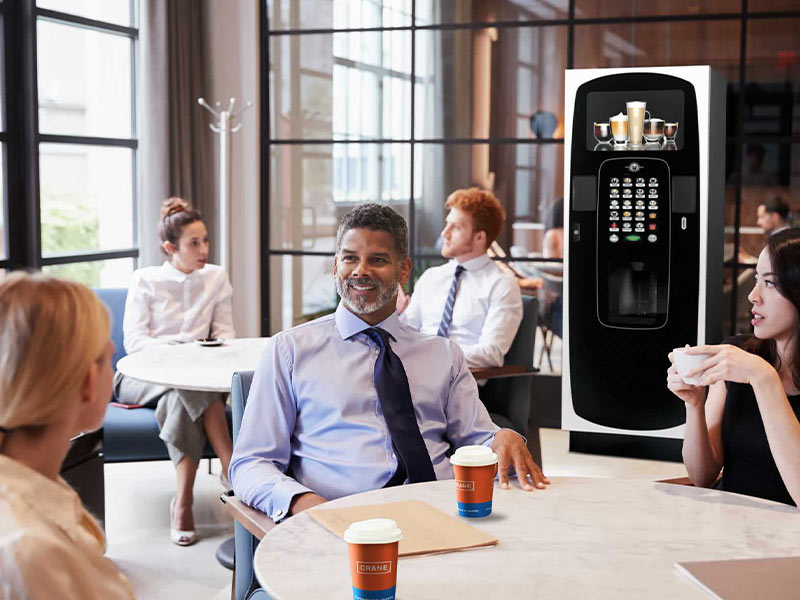 Enjoy a floorstanding coffee vending machine from Coinadrink Limited.