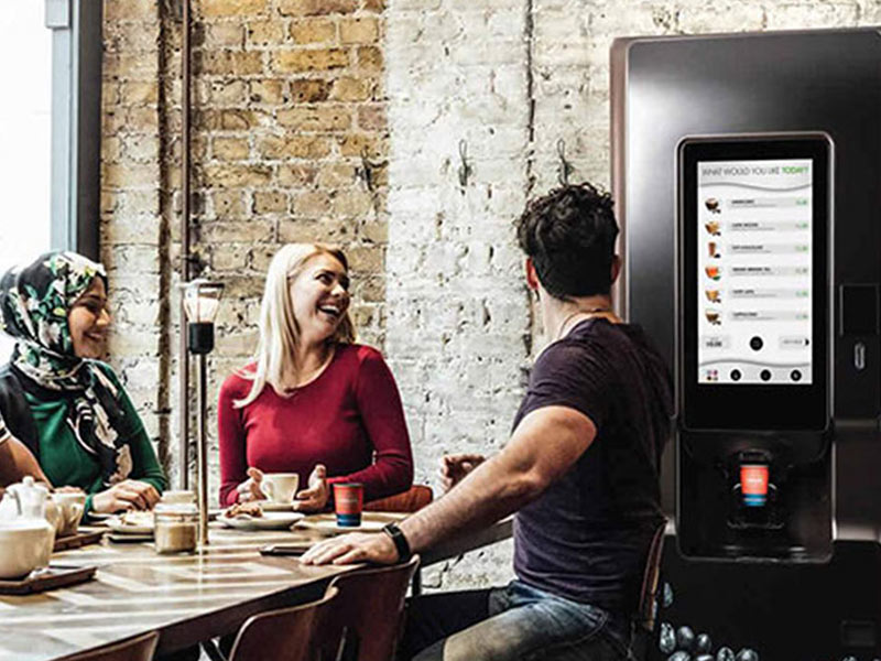 Floorstanding hot drink vending machines from Coinadrink Limited.