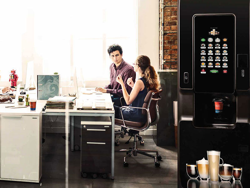 Experience a floorstanding tea vending machine in your workplace.