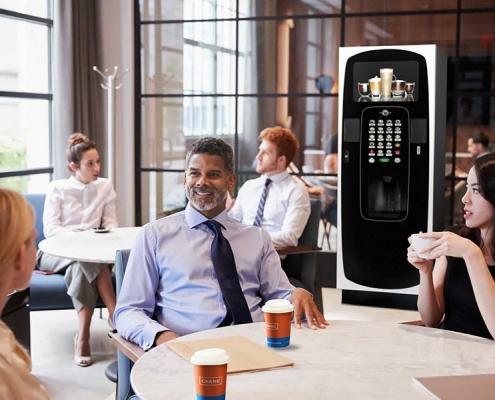 Icon floorstanding coffee vending machine.